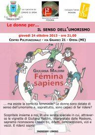 Femina Sapiens 24 10 13 Opera Locandina