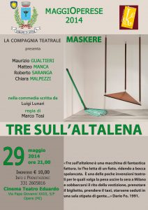 Tre sull'altalena 29 5 2014 Opera Locandina