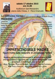 Imprescindibile madre 17 10 15 Pieve Emanuele Locandina