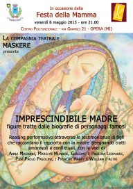 Imprescindibile madre 8 5 15 Opera Locandina