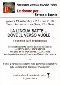 La lingua batte 19 9 13 Opera