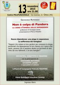 Non è colpa di Pandora 13 11 15 Opera - Locandina