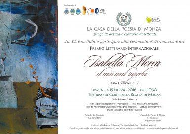 Premio Isabella Morra 19 6 16 Monza - Locandina
