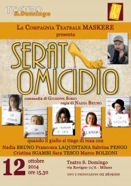 Serata Omicidio 12 10 14 Milano Locandina