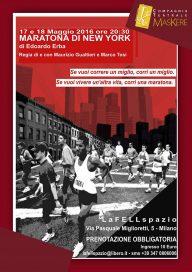 Maratona di New York 17 5 16 Milano - Locandina
