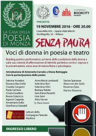 La Casa della Poesia di Monza - Loc evento SENZA PAURA