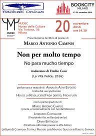 Marco Antonio Campos a BookCity - locandina