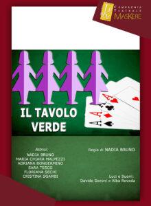 """«Il tavolo verde» di Maskere finalista a 11° Festival Internazionale del Teatro Amatoriale Premio """"Marcello Mascherini 2020″ Pordenone"""